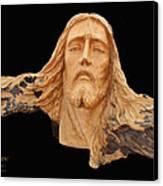 Jesus Christ Wooden Sculpture -  Four Canvas Print by Carl Deaville