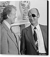 Jimmy Carter With Israeli Foreign Canvas Print by Everett