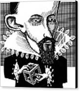 Johannes Kepler, Caricature Canvas Print by Gary Brown