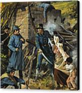 John Brown On 30 August 1856 Intercepting A Body Of Pro-slavery Men Canvas Print by Andrew Howart