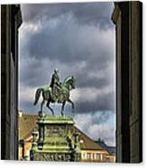 John Of Saxony Monument - Dresden Theatre Square Canvas Print by Christine Till