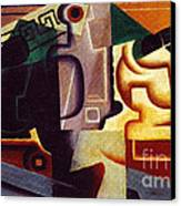 Juan Gris Glas Und Karaffe Canvas Print by Pg Reproductions