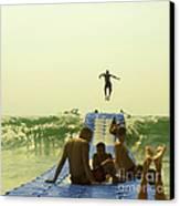 Jump Canvas Print by Paul Grand