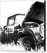 Junkyard Pickup Canvas Print by Matthew Angelo