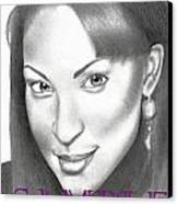 Karen Parsons Hillary Canvas Print by Rick Hill