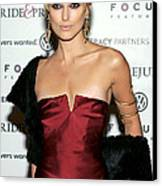 Keira Knightley Wearing A Calvin Klein Canvas Print by Everett
