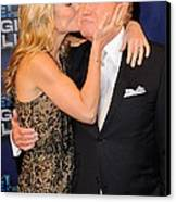 Kelly Ripa, Regis Philbin, Pose Canvas Print by Everett