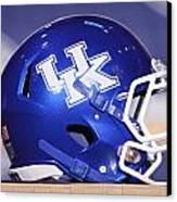 Kentucky Wildcats Football Helmet Canvas Print by Icon Sports Media