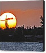 Key West Sunset Canvas Print by T Guy Spencer