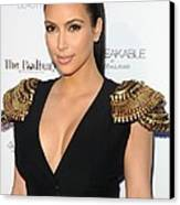 Kim Kardashian Wearing An Alexander Canvas Print by Everett