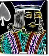 King Of Spades - V4 Canvas Print by Wingsdomain Art and Photography