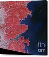 Kitakami River, Japan, After Tsunami Canvas Print by National Aeronautics and Space Administration