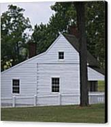 Kitchen And Slave Quarters Appomattox Virginia Canvas Print by Teresa Mucha