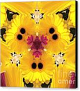 Kitty Petals Canvas Print by Cheryl Young