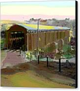 Knights Ferry Covered Bridge Canvas Print by Charles Shoup