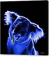 Koala Pop Art - Blue Canvas Print by James Ahn