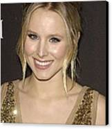 Kristen Bell At Arrivals For 12th Canvas Print by Everett