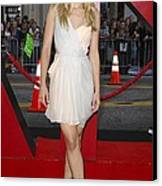 Kristen Bell Wearing A Dress By J Canvas Print by Everett