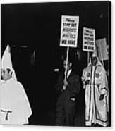 Ku Klux Klan Members, In Hooded White Canvas Print by Everett
