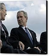 L To R Sec. Of Defense Donald Rumsfeld Canvas Print by Everett