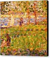La Grande Jatte Canvas Print by Pg Reproductions