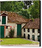 La Pillebourdiere Old Farm Outbuildings In The Loire Valley Canvas Print by Louise Heusinkveld