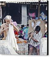 Labour And Sweat Canvas Print by Kantilal Patel