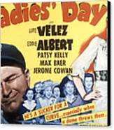 Ladies Day, Eddie Albert, Patsy Kelly Canvas Print by Everett