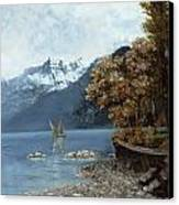Lake Leman Canvas Print by Gustave Courbet