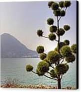 Lake Lugano - Monte Salvatore Canvas Print by Joana Kruse