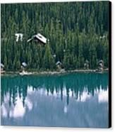 Lake Ohara Lodge And Cabins Canvas Print by Michael Melford