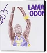 Lamar Odom Canvas Print by Toni Jaso