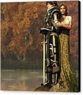 Lancelot And Guinevere Canvas Print by Daniel Eskridge