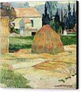 Landscape Near Arles Canvas Print by Paul Gauguin