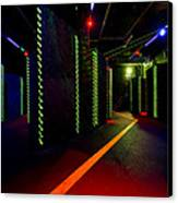 Laser Game Area With Obstacles Canvas Print by Corepics
