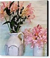 Last Of My Lilies Canvas Print by Marsha Heiken