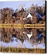 Late Fall Reflection Canvas Print by Vicki Jauron
