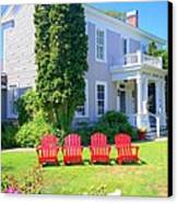 Lawn Chairs Canvas Print by Randall Weidner