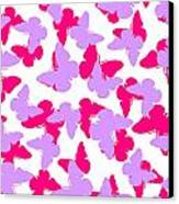 Layered Butterflies  Canvas Print by Louisa Knight