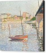 Le Clipper - Asnieres Canvas Print by Paul Signac