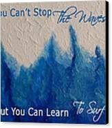 Learning To Surf Canvas Print by The Art With A Heart By Charlotte Phillips