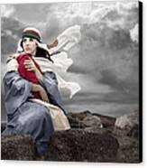 Leaving Bethlehem Canvas Print by Cindy Singleton