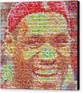 Lebron James Pez Candy Mosaic Canvas Print by Paul Van Scott