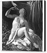 Leda And The Swan Canvas Print by Granger