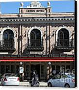 Ledson Hotel - Downtown Sonoma California - 5d19268 Canvas Print by Wingsdomain Art and Photography