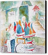 Les Voiliers Jardin Du Luxembourg Canvas Print by Pat Katz