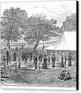 Life-sized Chess, 1882 Canvas Print by Granger