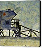 Lifeguard Station 17 Canvas Print by Ernie Echols