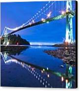 Lions Gate Bridge, Vancouver, Canada Canvas Print by David Nunuk
