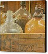 Little Brown Jugs Canvas Print by Jan Amiss Photography